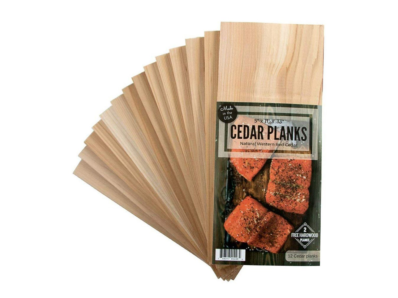 12 Cedar Grilling Planks for Salmon