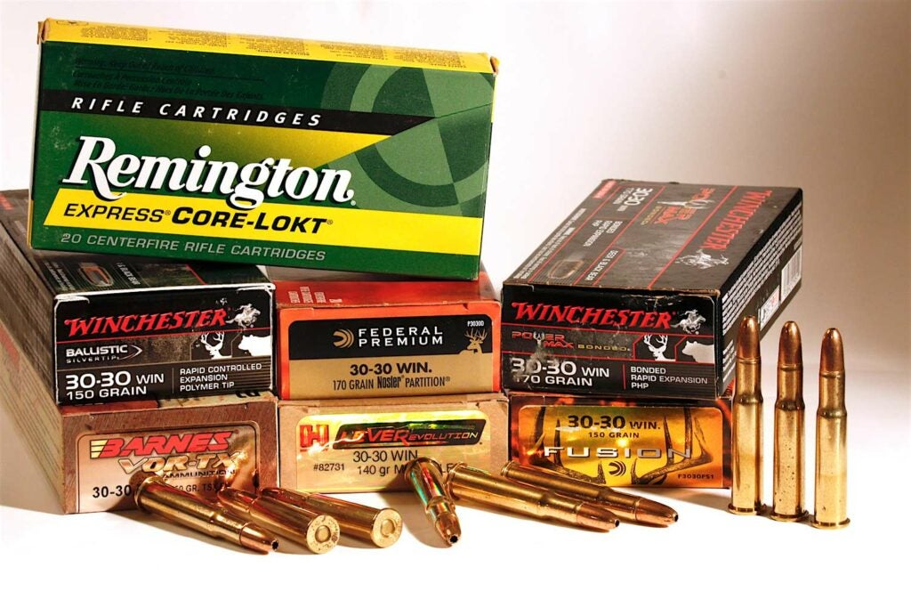 boxes of 30-30 winchester ammunition