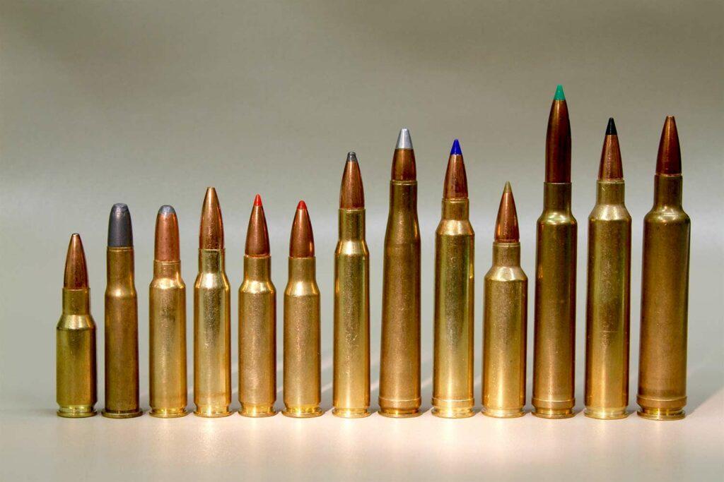 baker's dozen .30-caliber cartridges