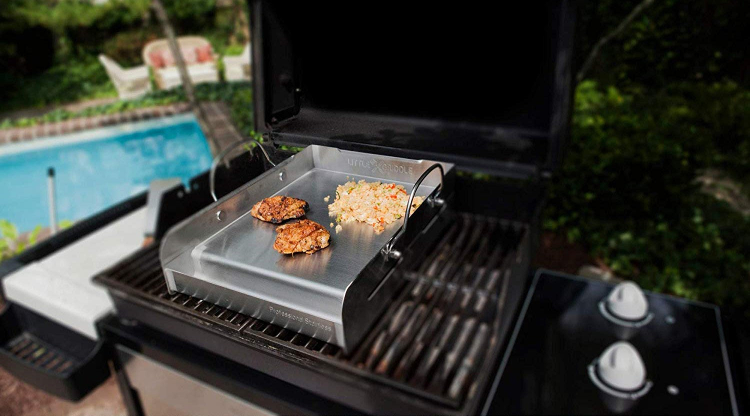 Sizzle-Q SQ180 100% Stainless Steel Universal Griddle