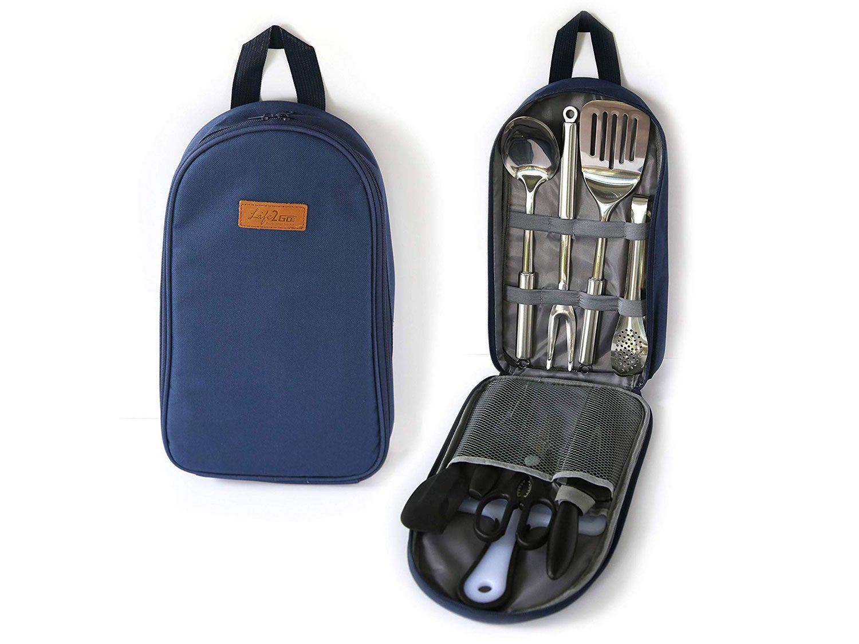 Life 2 Go 9-Piece Portable Camp Kitchen Utensil Organizer Set