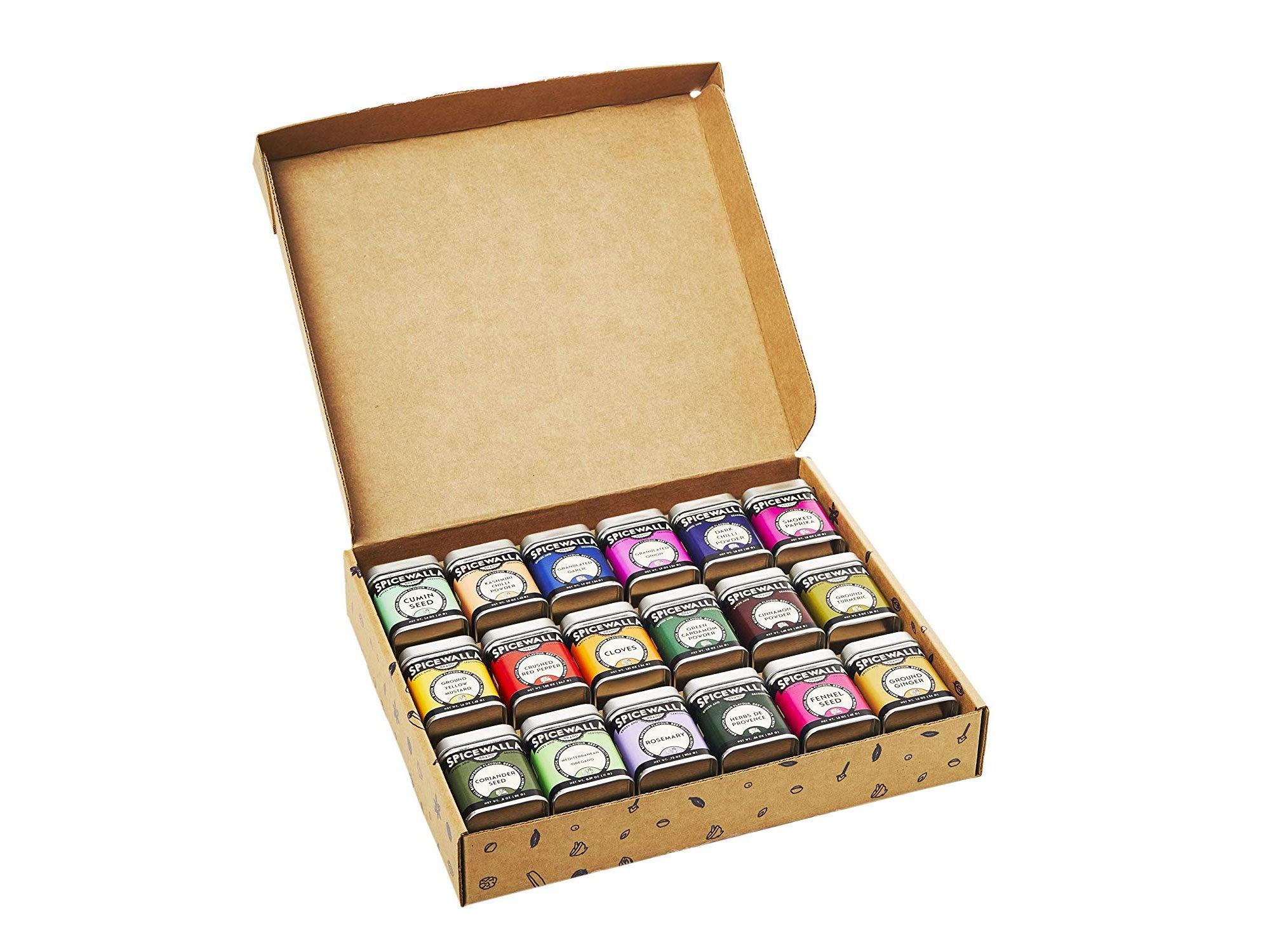 Spicewalla Kitchen Essentials Spices and Seasonings Set   18 Spices Gift Set   Kitchen Starter Set Bulk Spice Kit