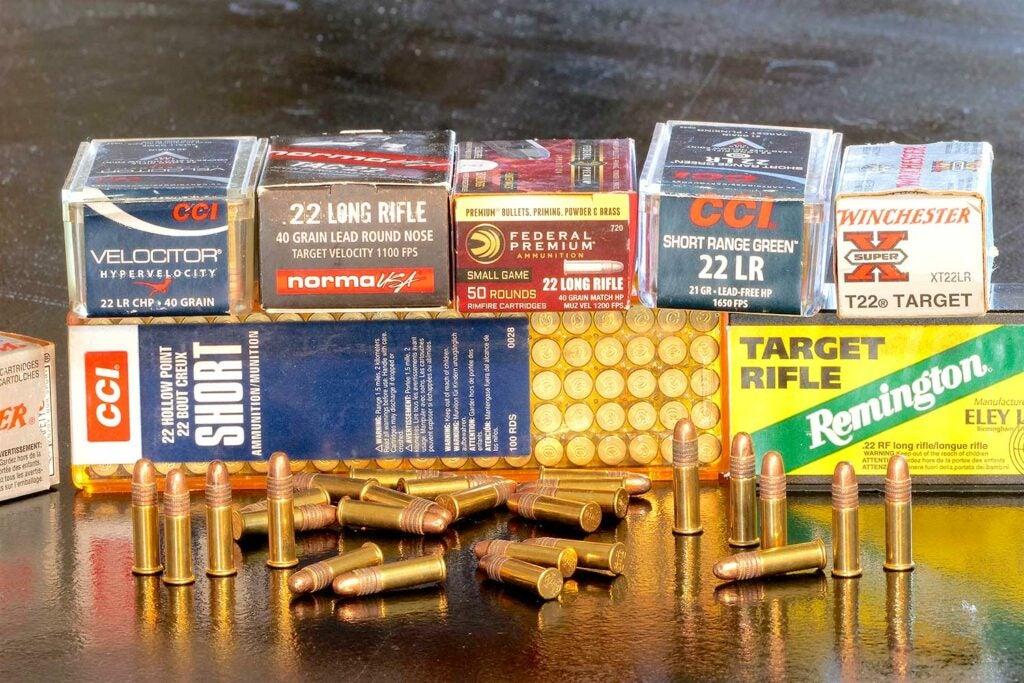 boxes of .22 rimfire ammo