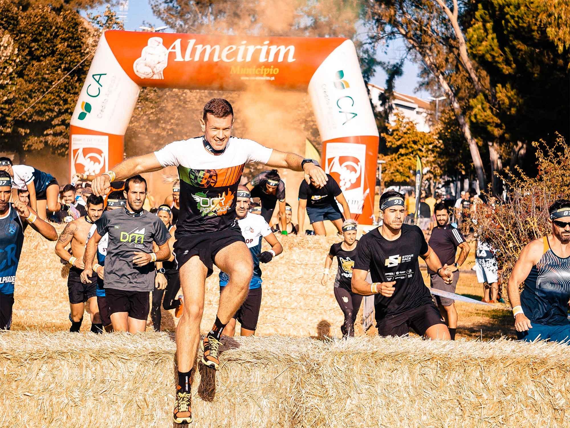 Bunch of guys running a marathon