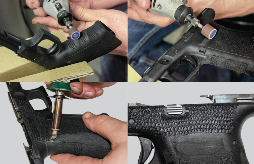 Making the Glock's grip angle less
