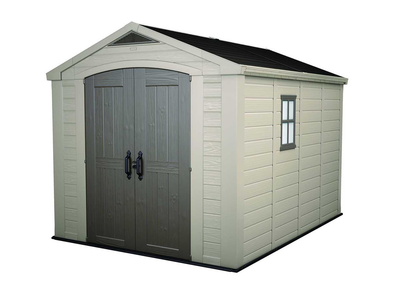 Keter Factor Large 8 x 11 ft. Resin Outdoor Yard Garden Storage Shed