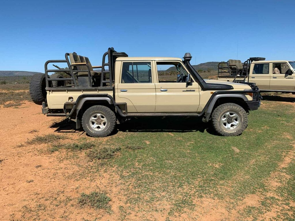 A land cruiser used in Africa hunting trips.