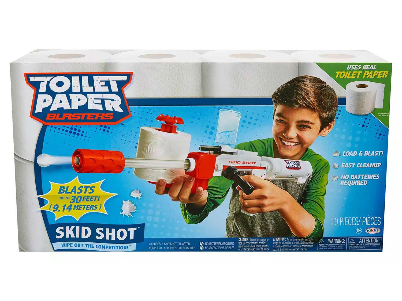 Toilet Paper blasters Skid Shot Spitball Guns