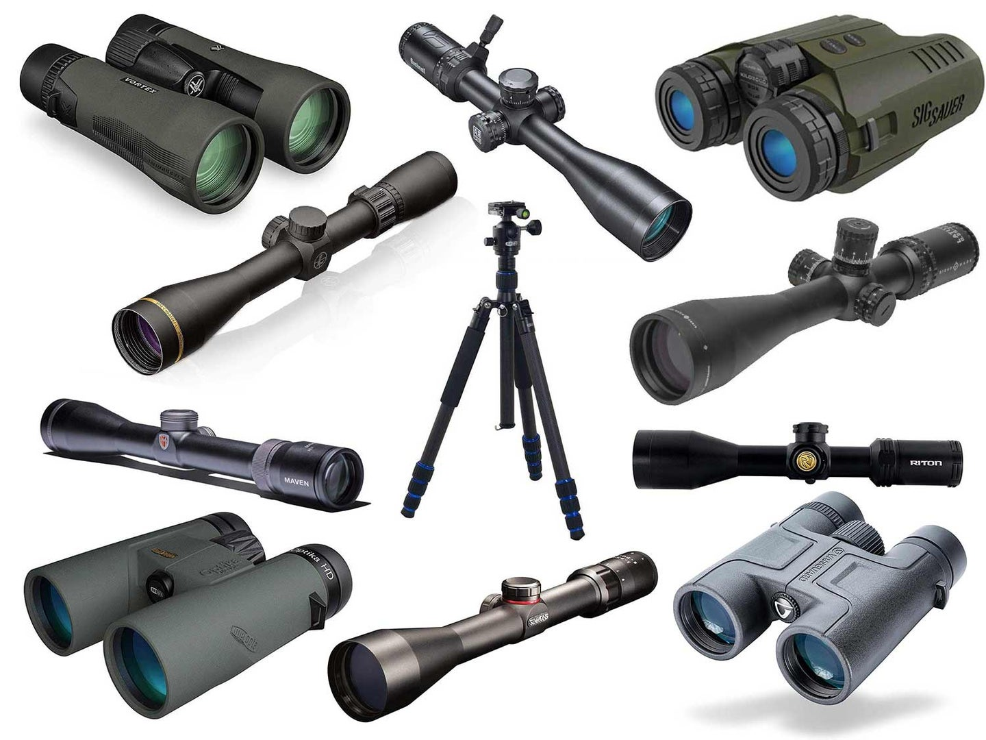 Collage of the best hunting optics