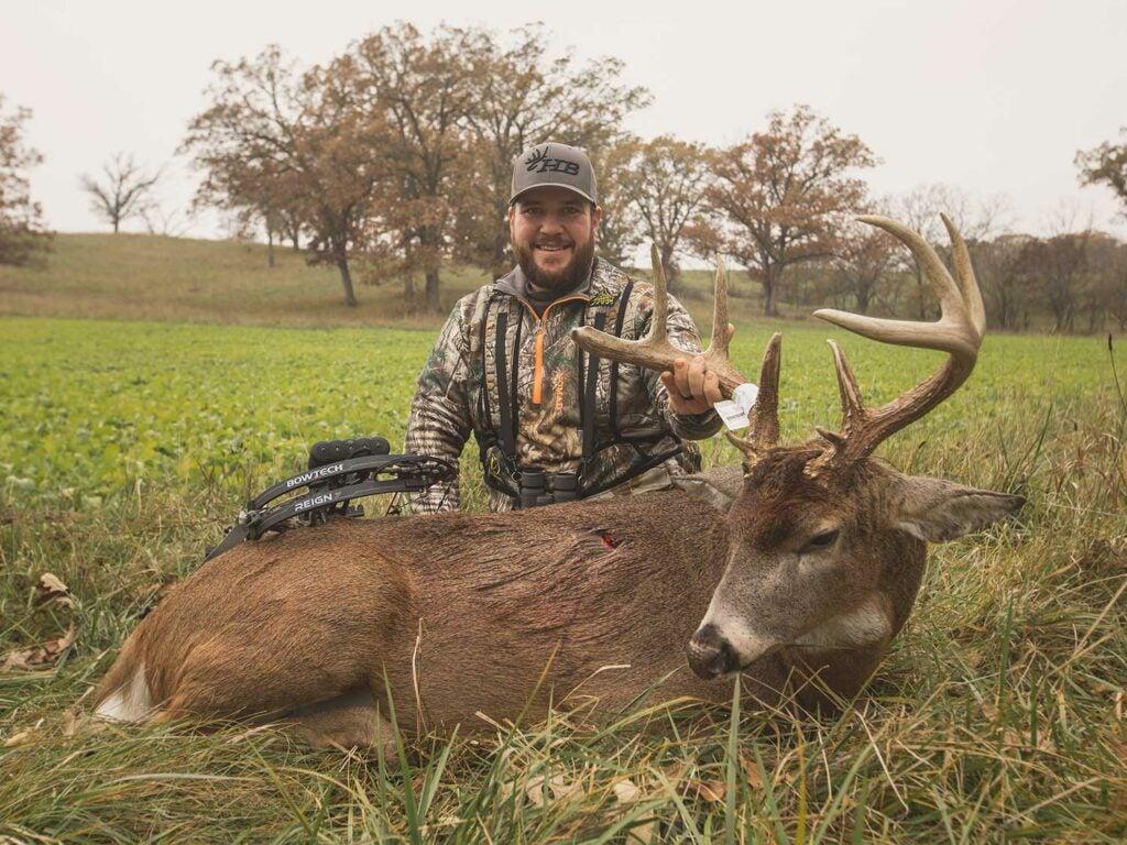 Hunsucker's Iowa deer, shot over a decoy.