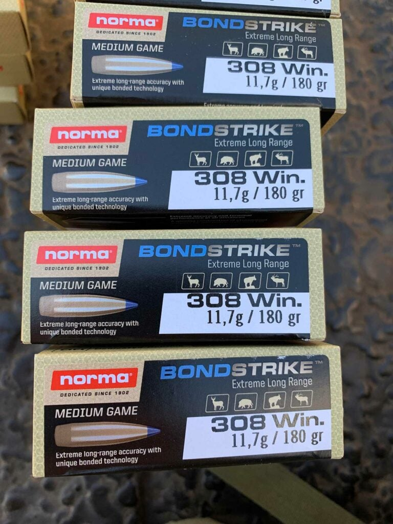 Boxes of Norma Bondstrike in .308 Winchester