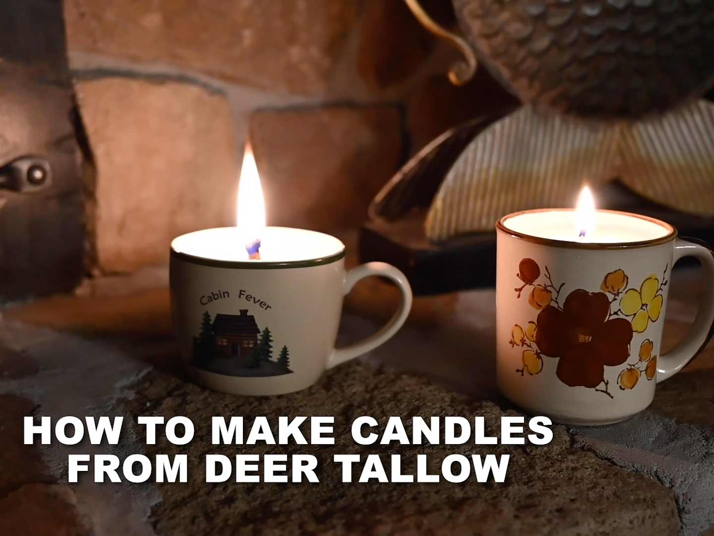 How to make candles from deer tallow.