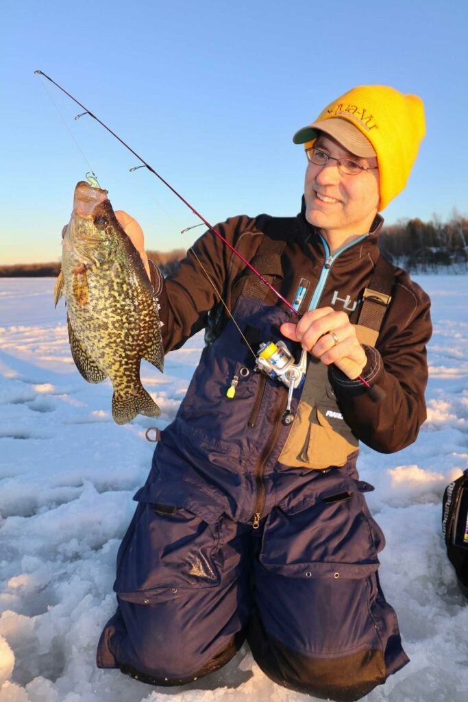 A solid hard water crappie.