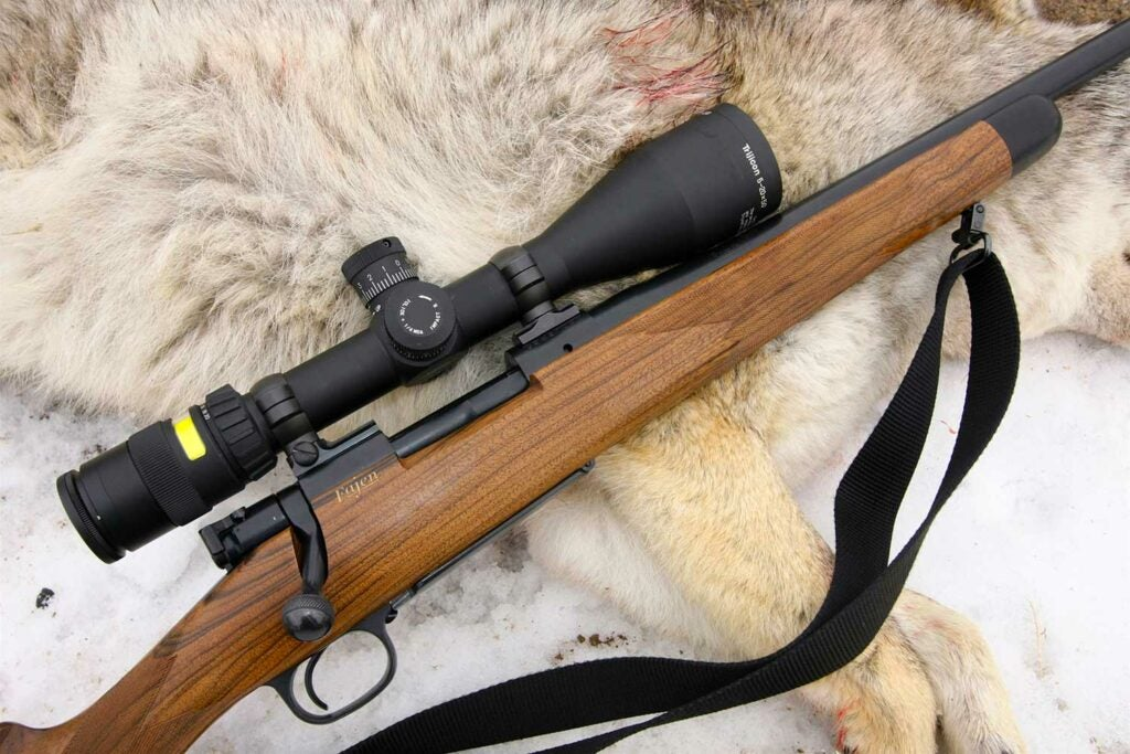 hunting rifle equipped with a Trijicon scope.