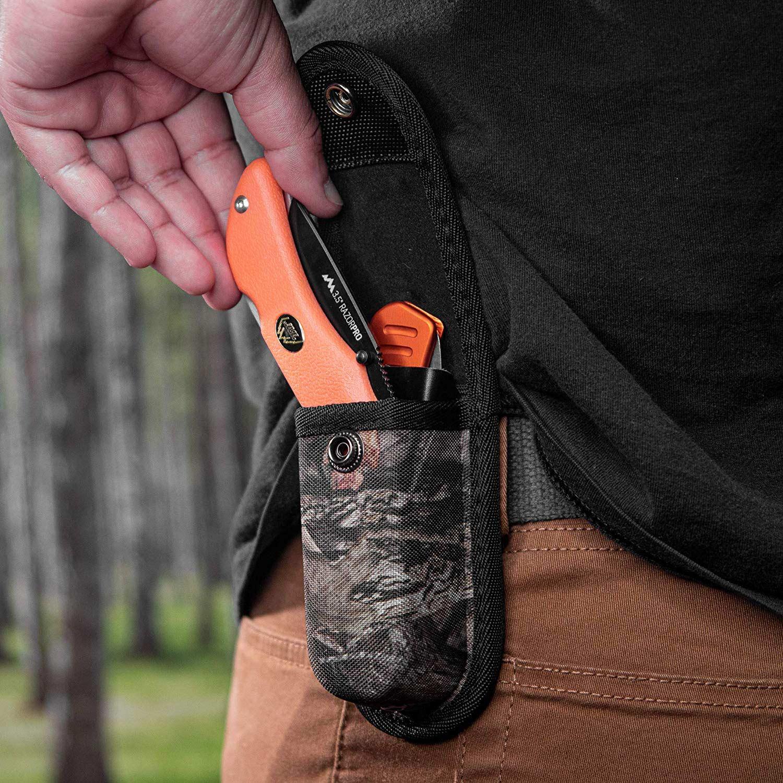 outdoor edge knife in a belt