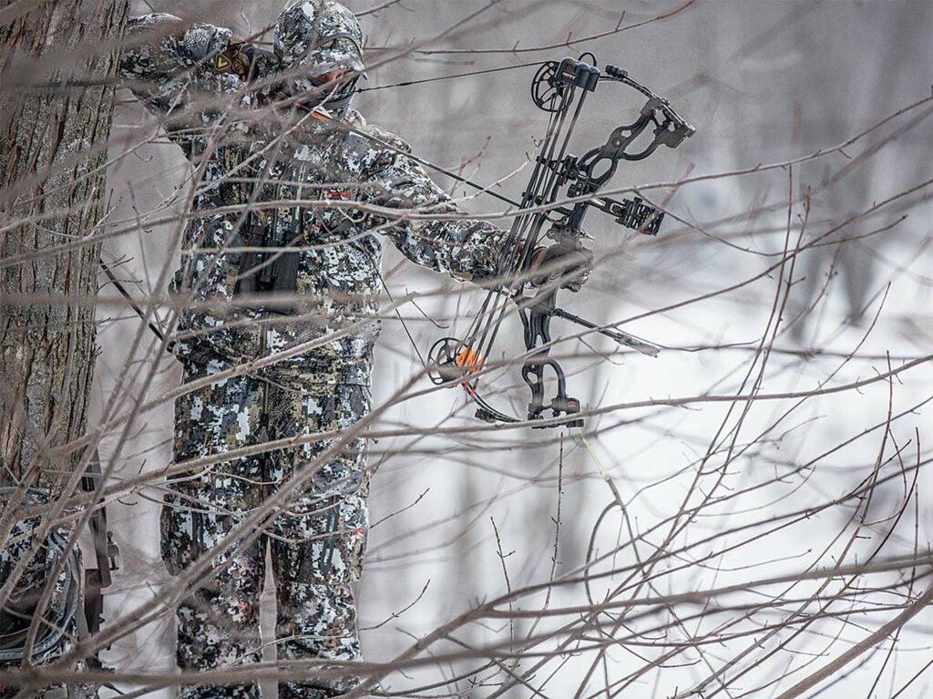 A late-season hunter waits on a frosty Alberta buck.