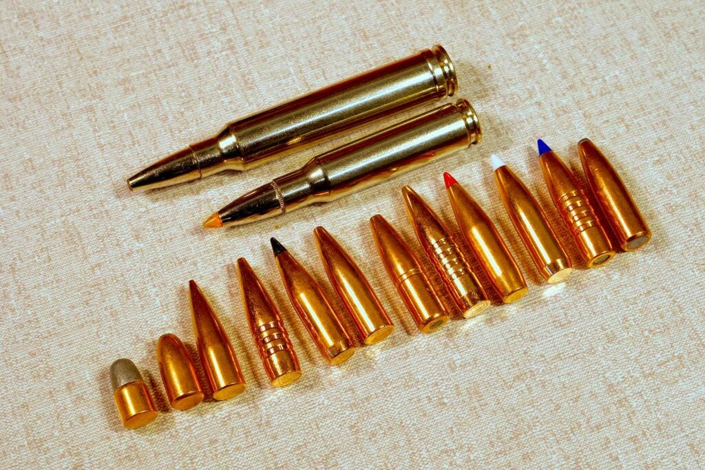 A lineup of ammo used in Africa safari hunting.