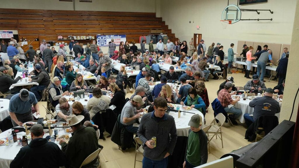 A conservation banquet in Glasgow, Montana.