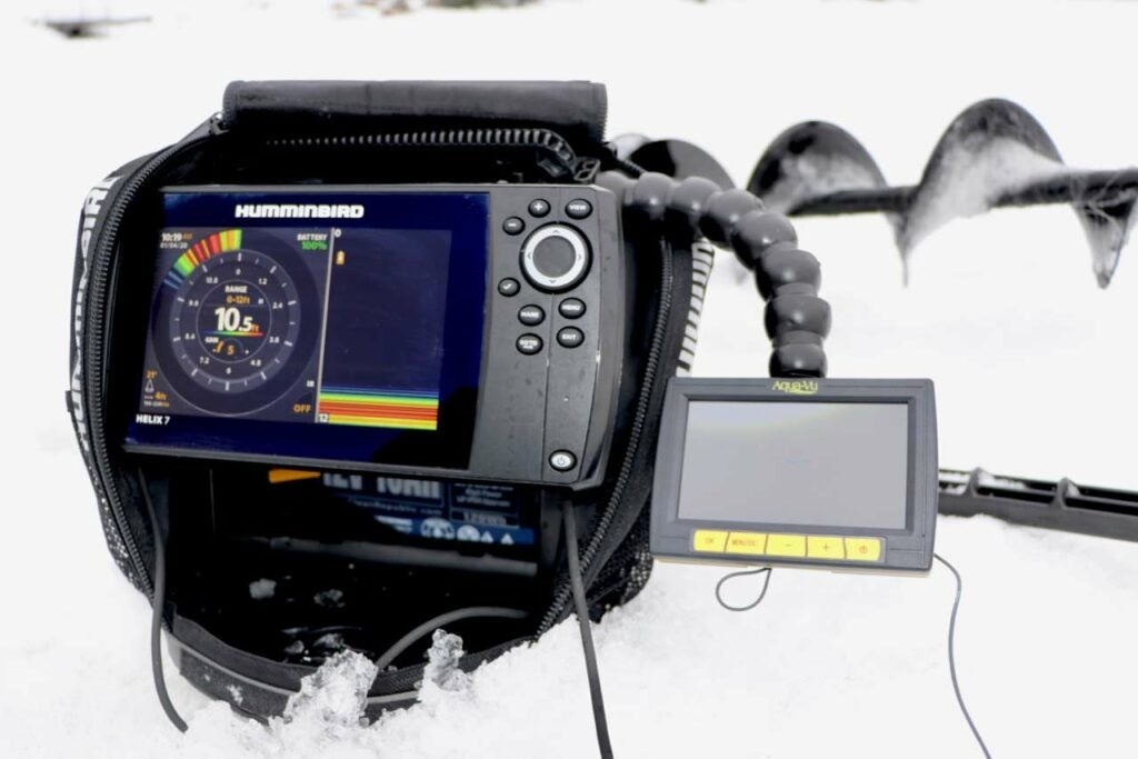 An underwater camera used for ice fishing.
