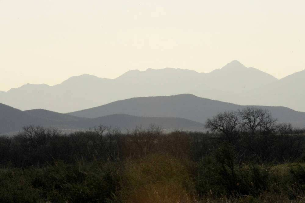 landscape of mountains in the horizon.