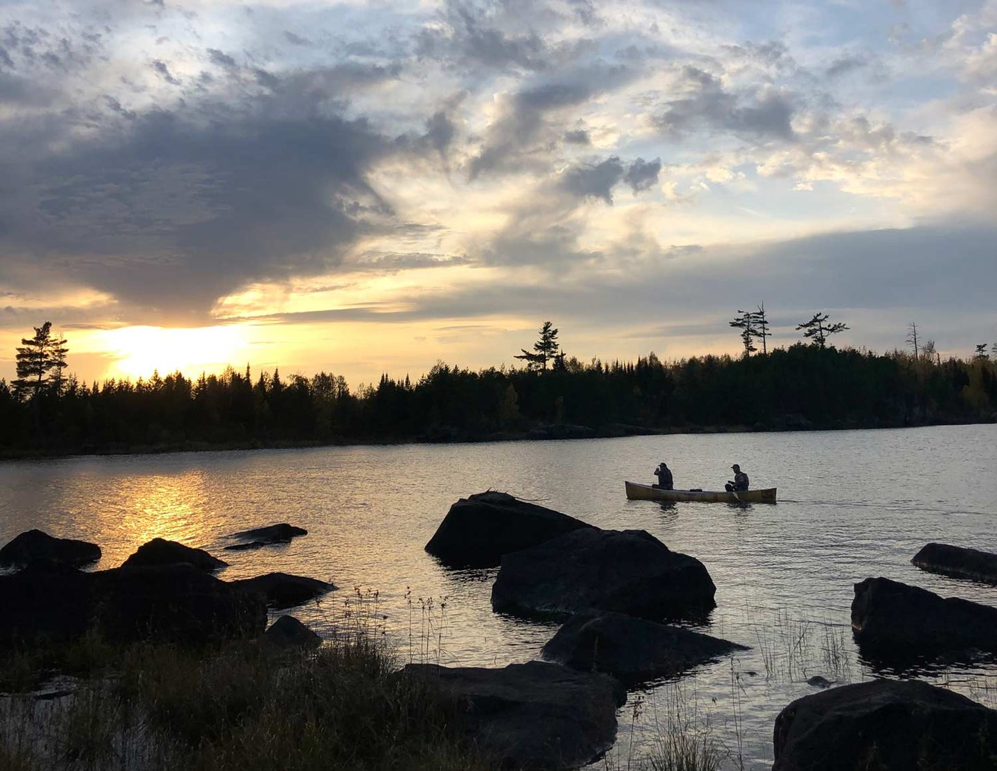 Sunset at the Boundary Areas Canoe Area Wilderness