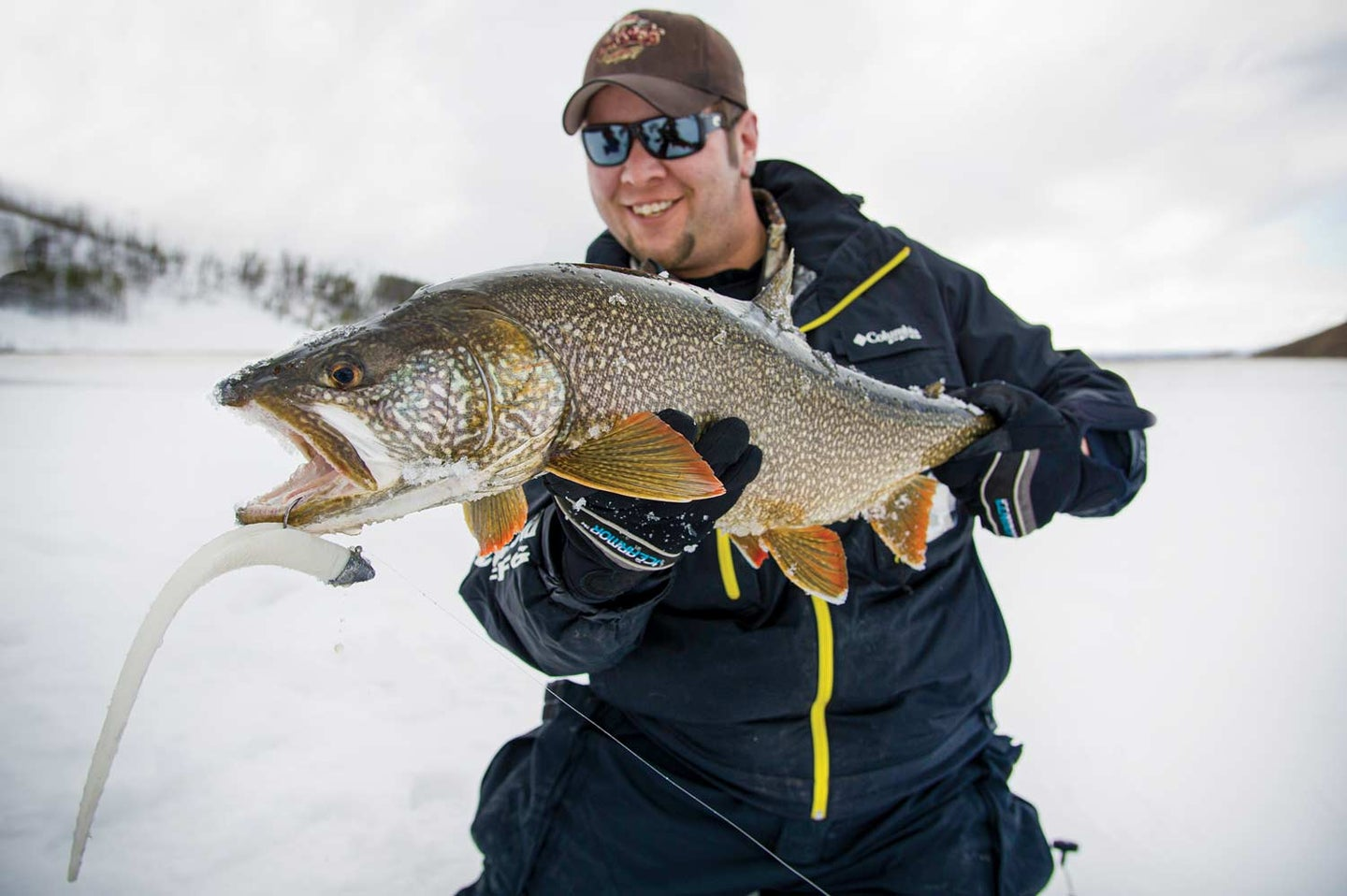 Joe Cermele with a heavy lake trout from Lake Granby in Colorado.