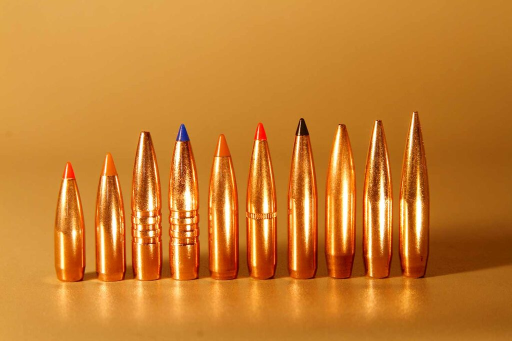 A lineup of 6.5 ammo