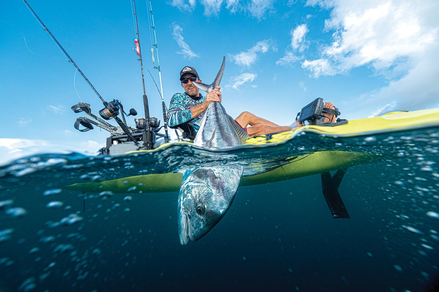 Lance Clinton fishing rooster caught in Costa Rica.