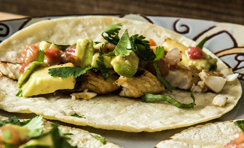 Grilled Tequila Lime Walleye Tacos.