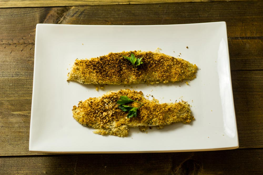 Sous Vide Walleye with a Parmesan Crust