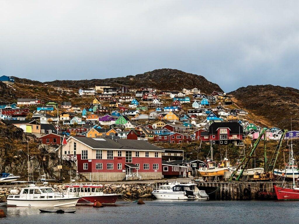 The Greenlandic town of Narsarsuaq.