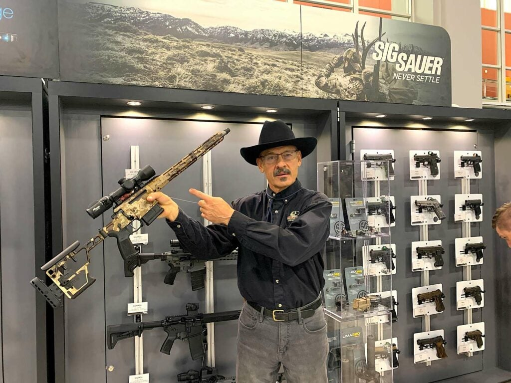 The author with the new SIG Cross rifle.