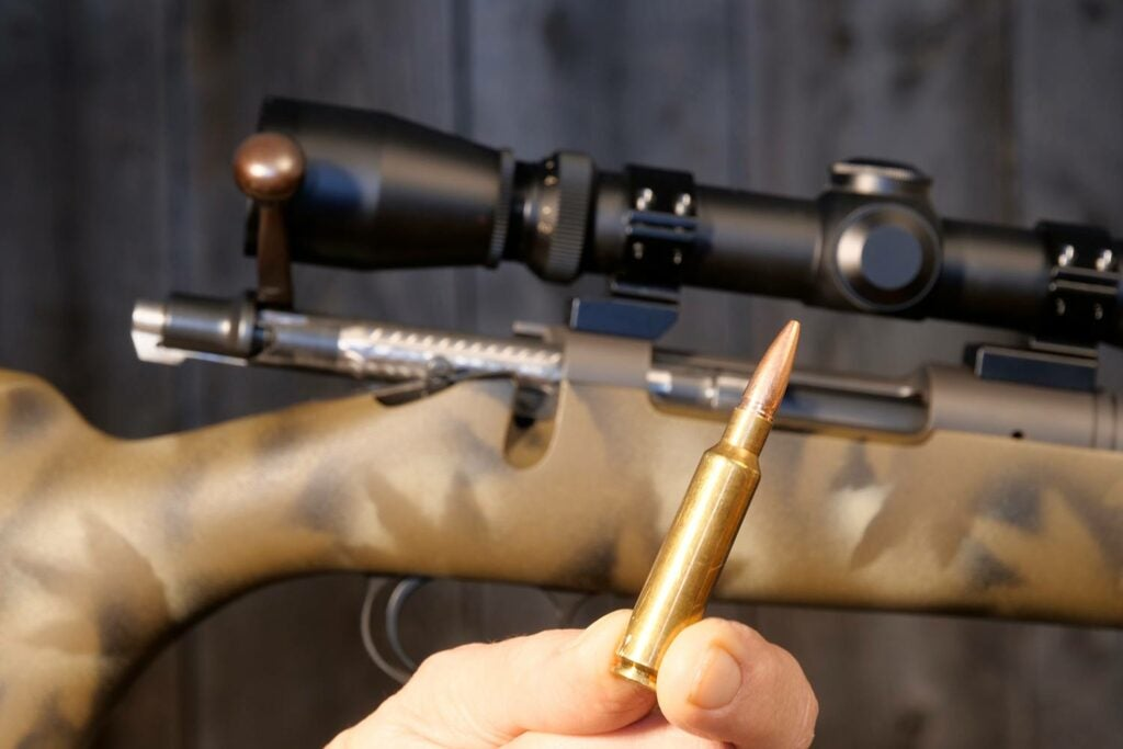 .284 Winchester rifle and ammo.