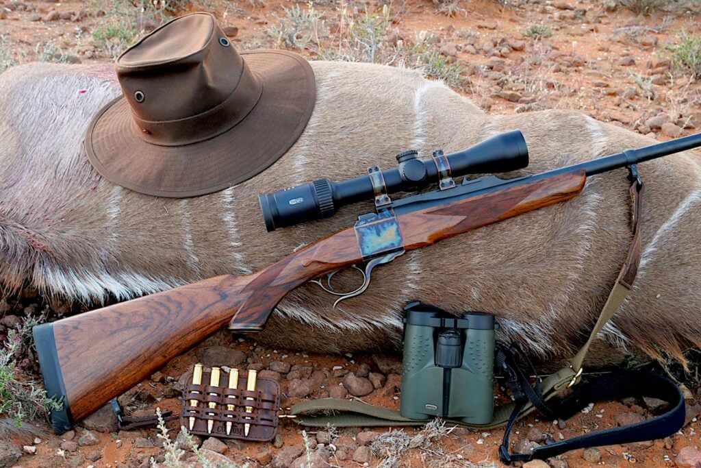 Backcountry hunting gear and rifles