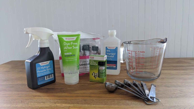 Hand sanitizer supplies