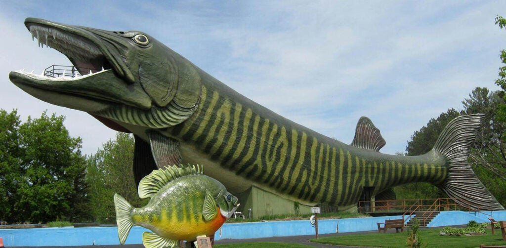 A giant muskie monument.