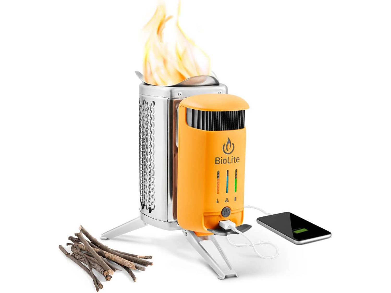 BioLite Campstove 2 Wood Burning Electricity Generating & USB Charging Camp Stove