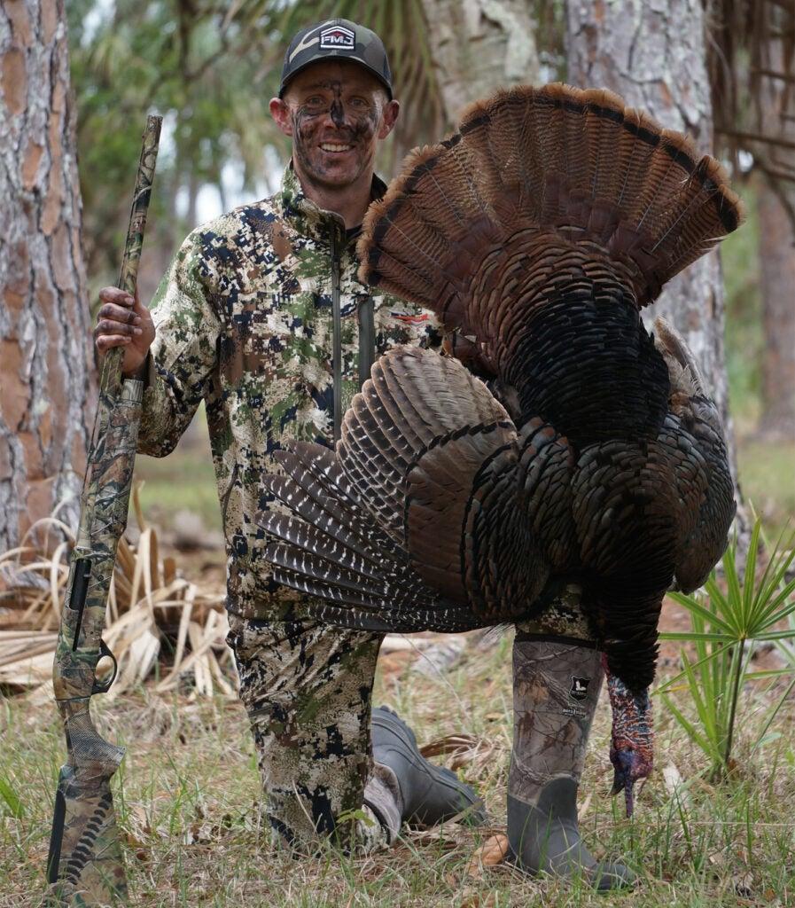 Hoppy Kempfer with a Osceola turkey.