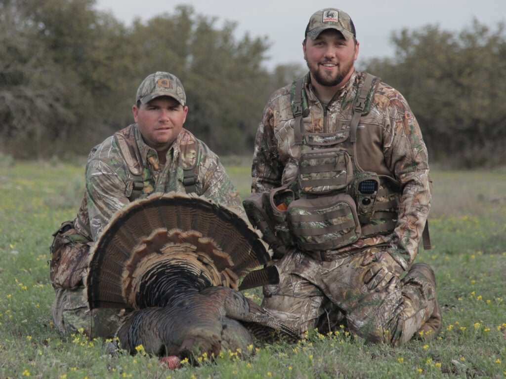 Mike Stroff with a large Rio Grande turkey.