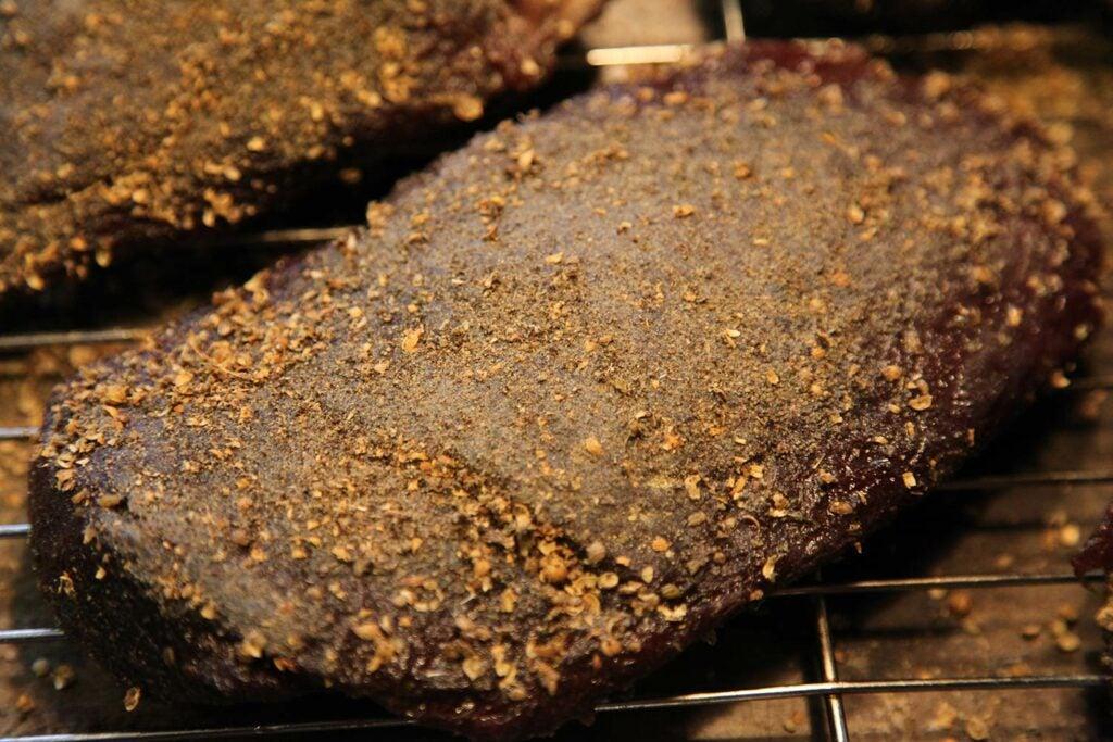 Goose meat pastrami.