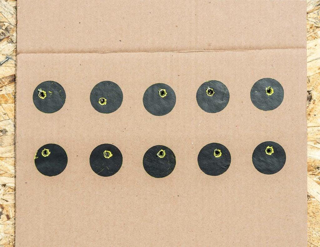 Hunting target drills board.