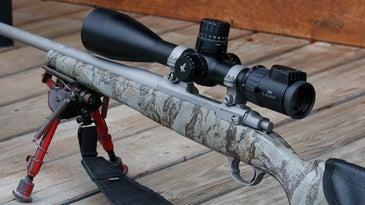 A Swarovski rifle and scope.