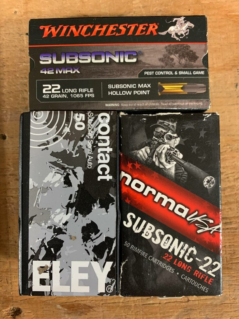 Eley subsonic ammo