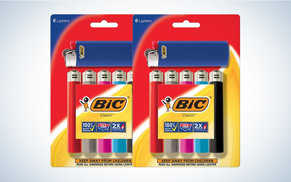 Bic Lighter Classic, with Exotac Firesleeve