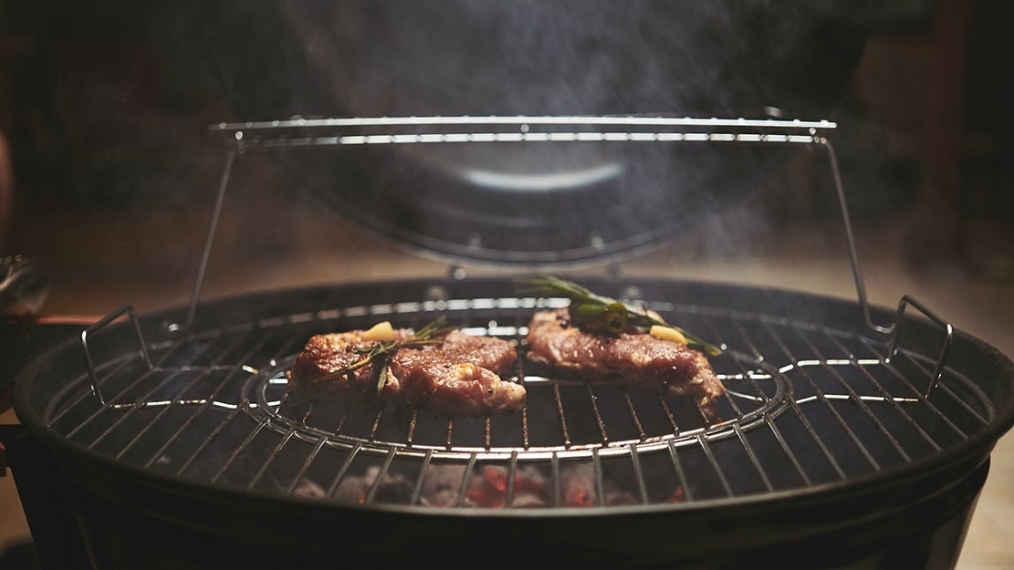 meat on a grill