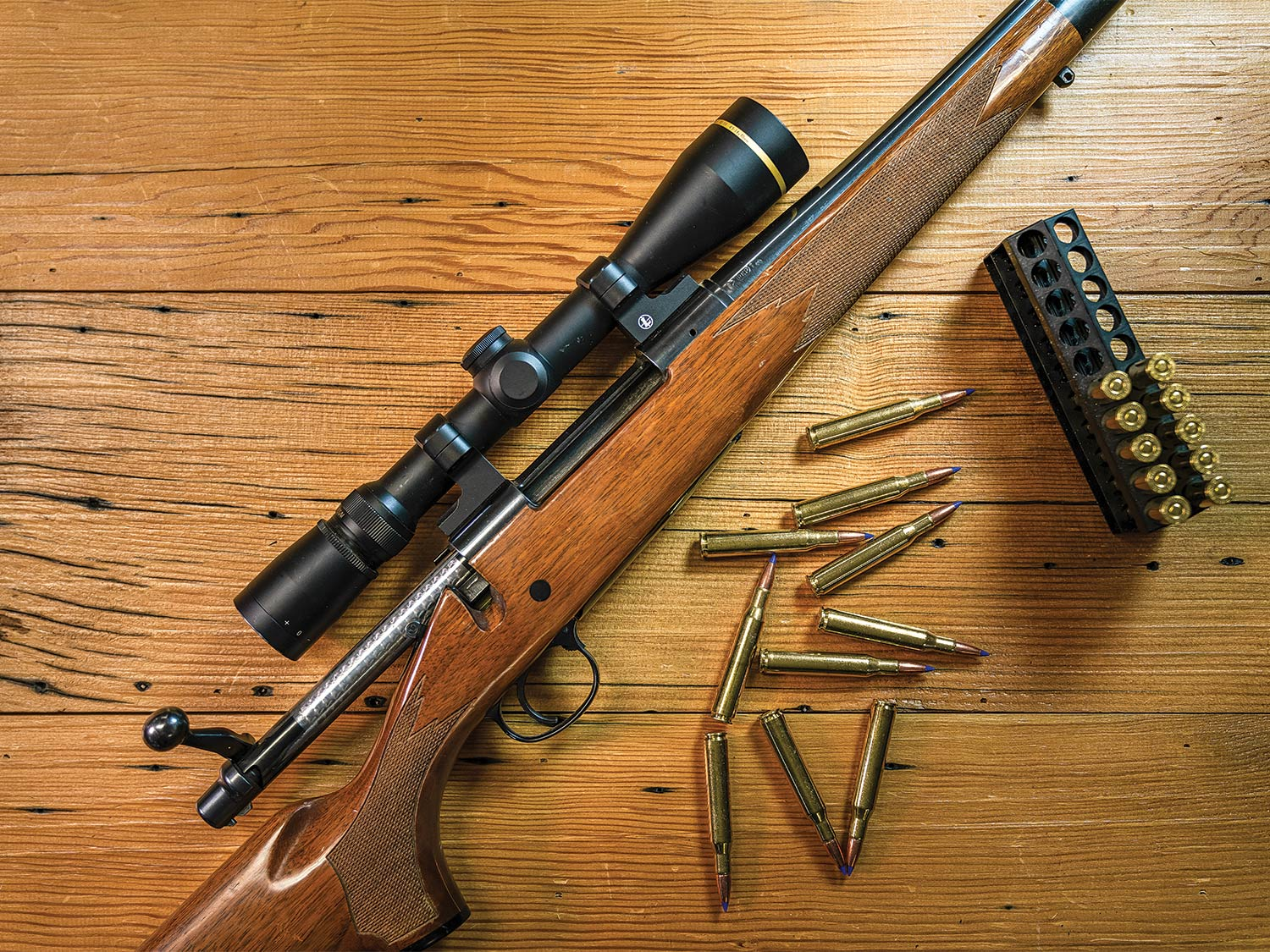 An upgraded Remington rifle.