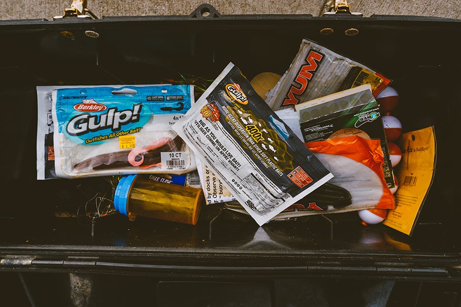 gear in a tackle box
