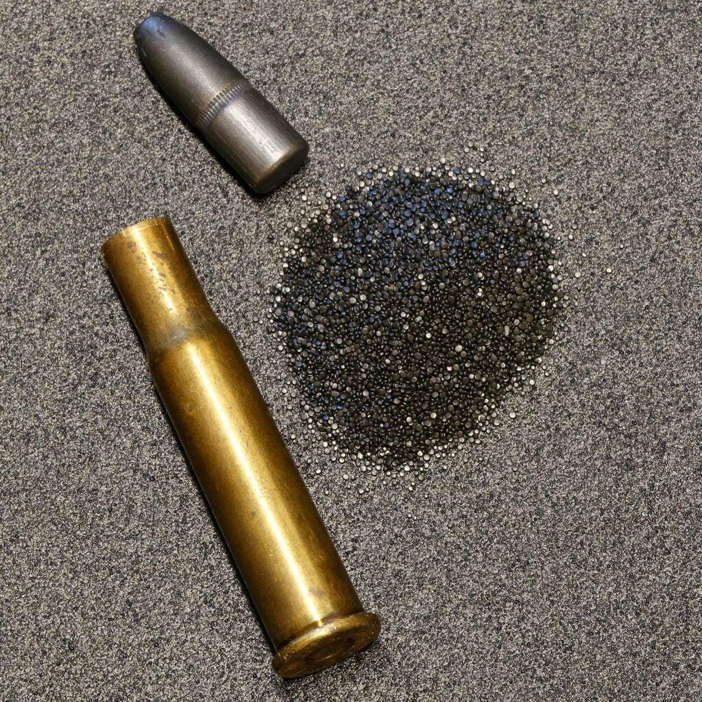 gunpowder in a rifle ammo.