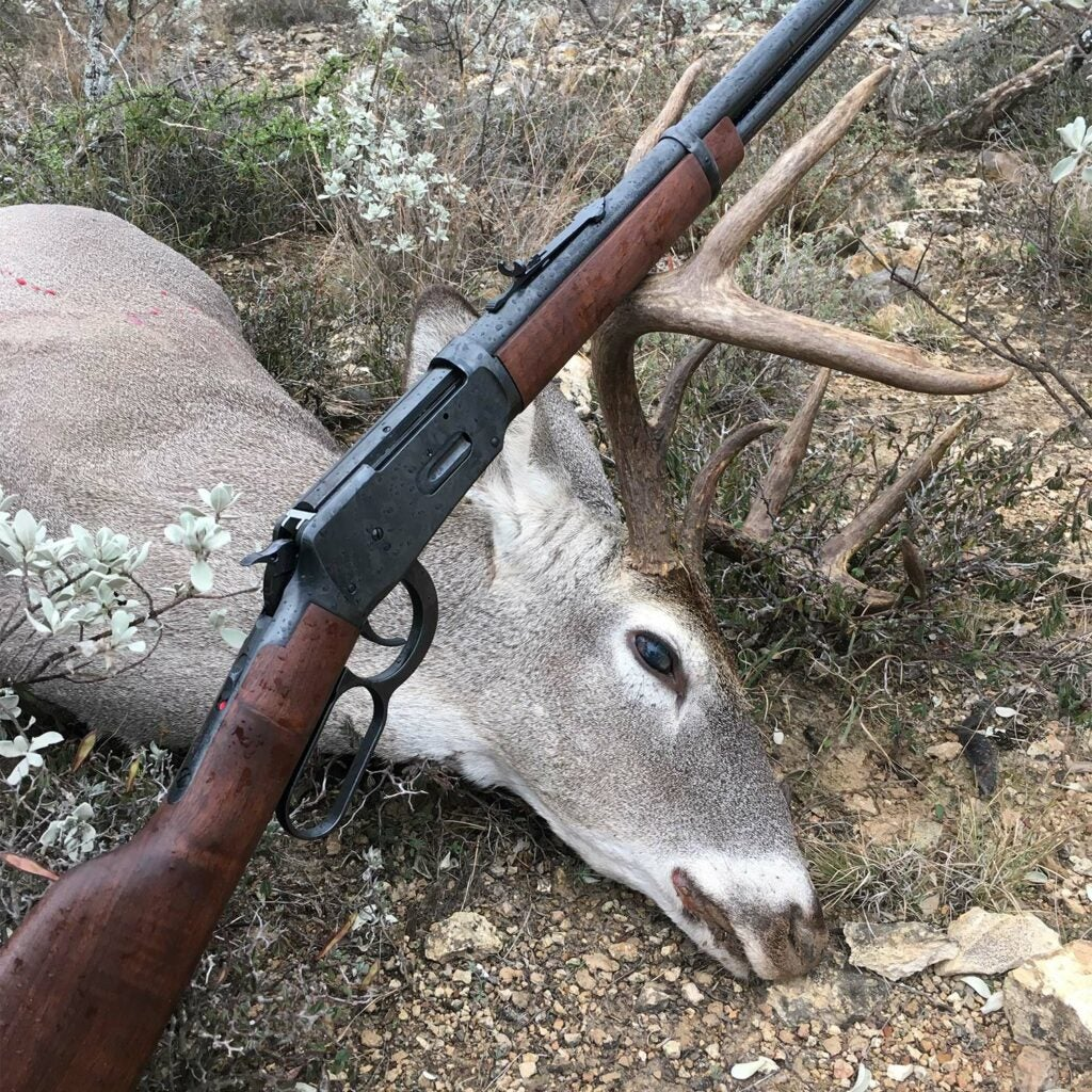 The Model 94 lever action rifle and deer.