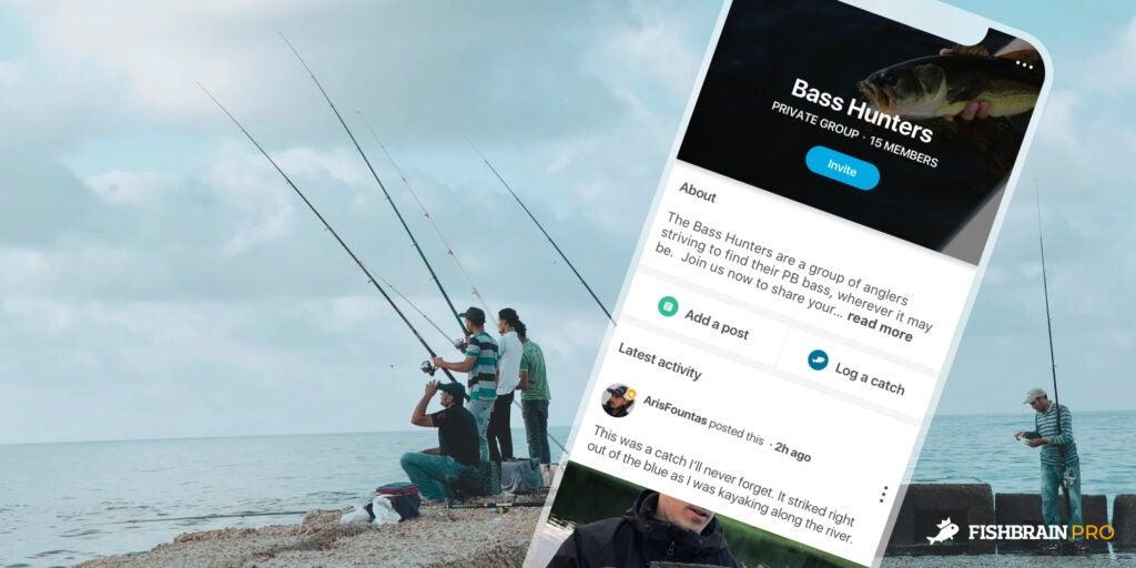 bass hunters fishbrain pro